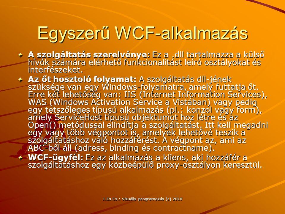 Egyszerű WCF-alkalmazás