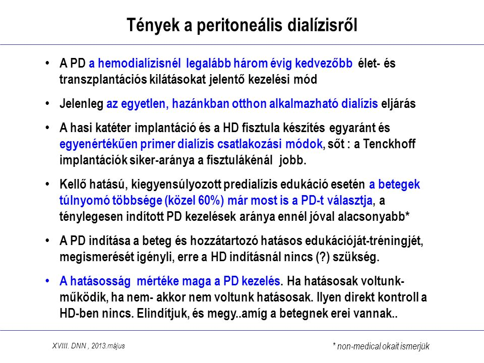 Tények a peritoneális dialízisről