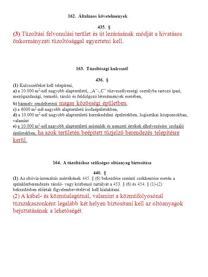 162. Általános követelmények