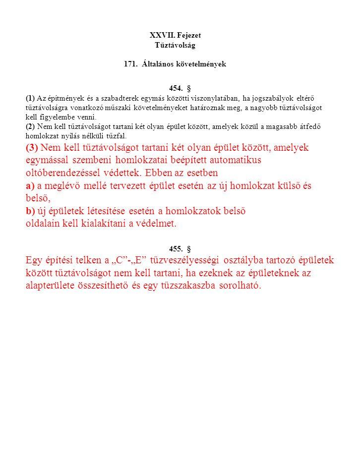 171. Általános követelmények