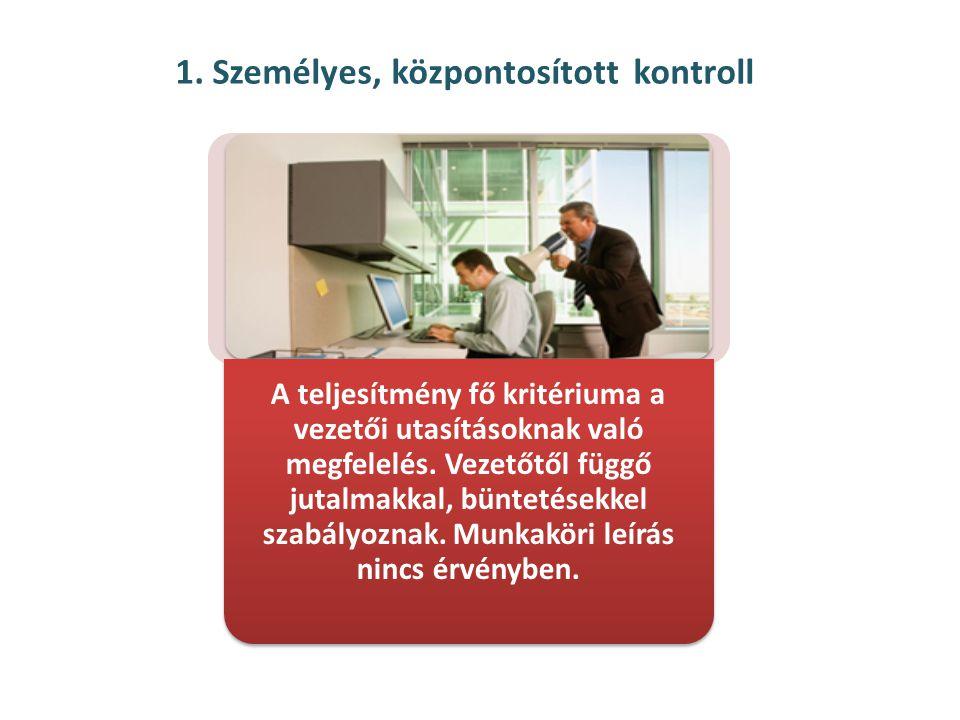 1. Személyes, központosított kontroll