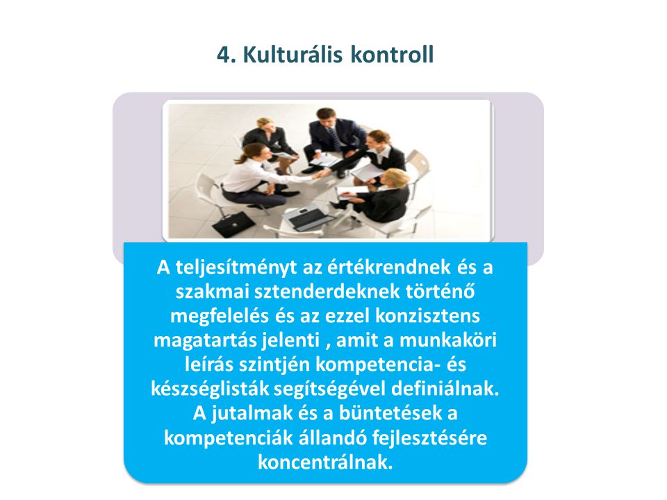 4. Kulturális kontroll