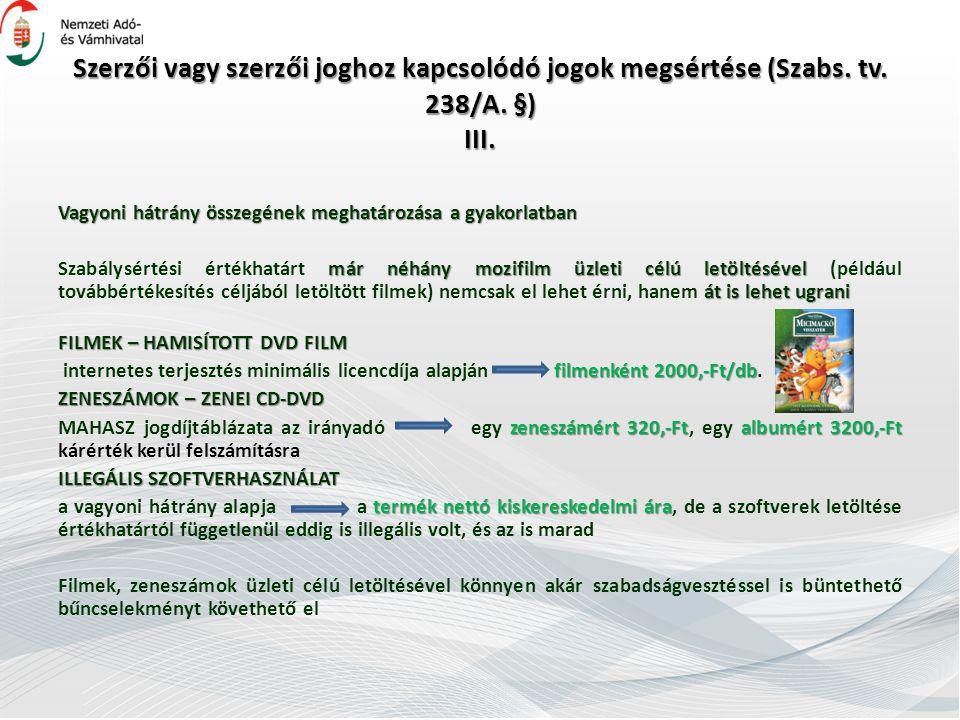 Szerzői vagy szerzői joghoz kapcsolódó jogok megsértése (Szabs. tv