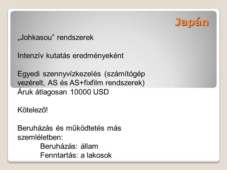 """Japán """"Johkasou rendszerek Intenzív kutatás eredményeként"""