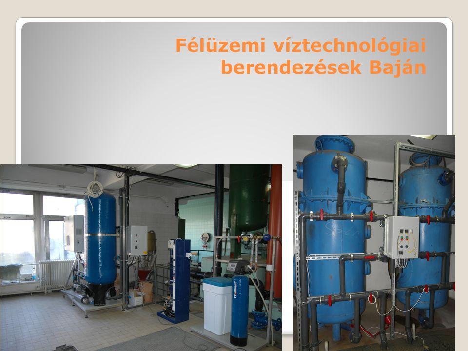 Félüzemi víztechnológiai berendezések Baján
