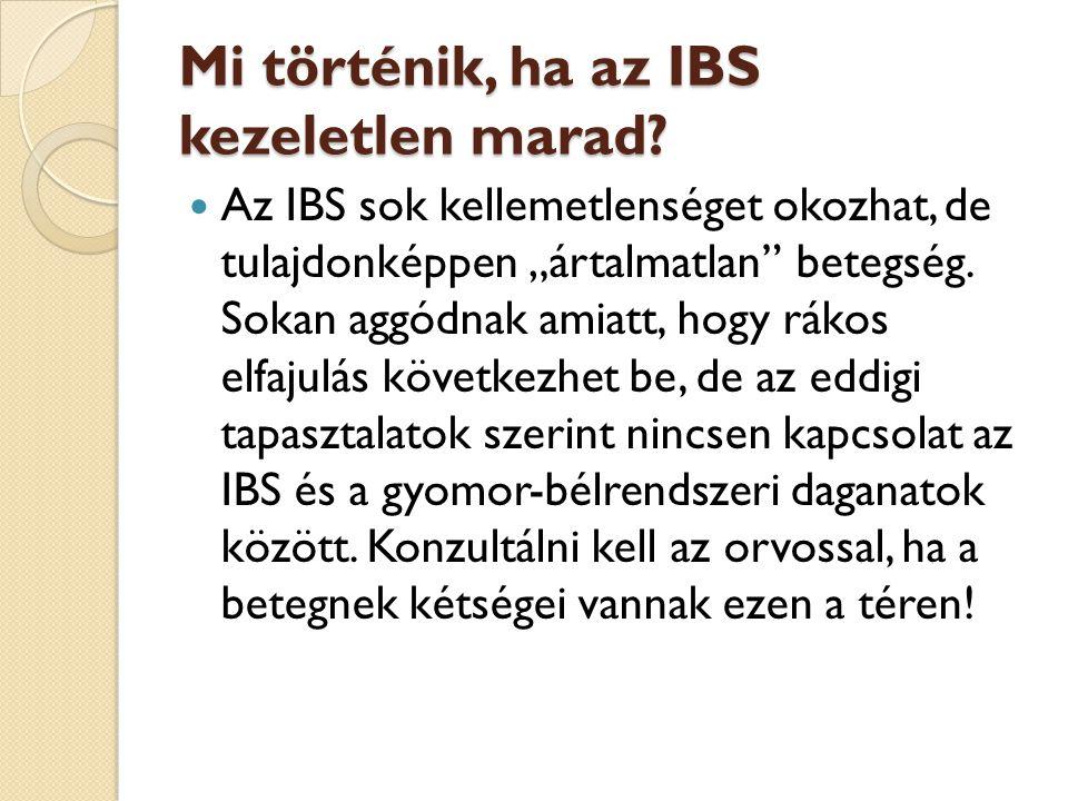 Mi történik, ha az IBS kezeletlen marad