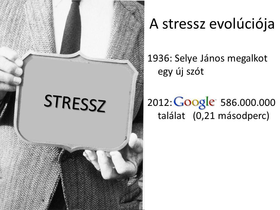 STRESSZ A stressz evolúciója