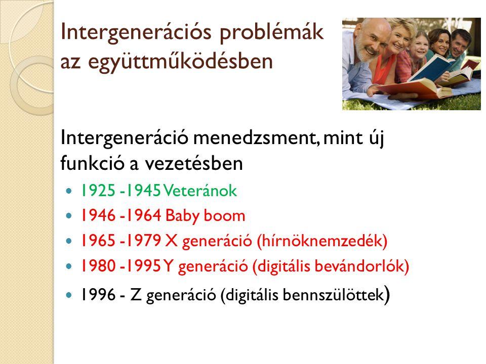 Intergenerációs problémák az együttműködésben
