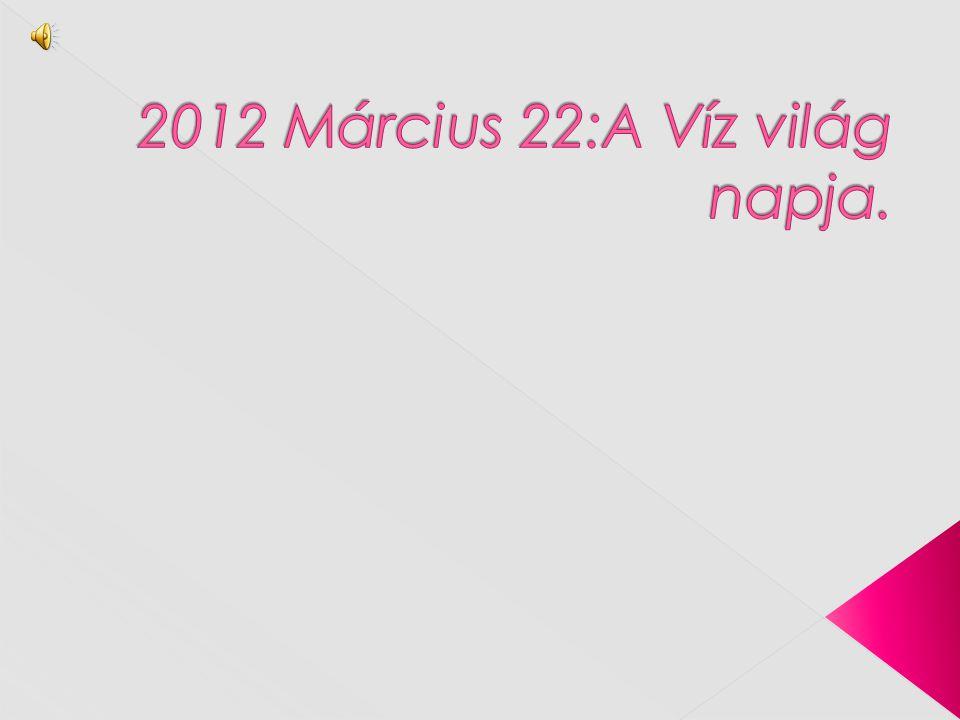 2012 Március 22:A Víz világ napja.