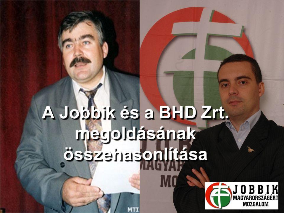 A Jobbik és a BHD Zrt. megoldásának összehasonlítása