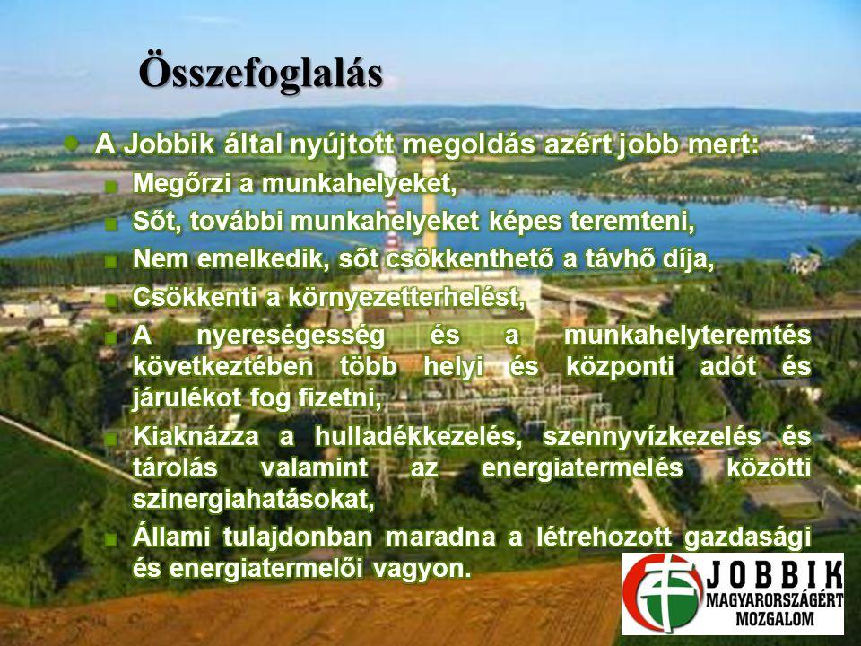 Összefoglalás A Jobbik által nyújtott megoldás azért jobb mert: