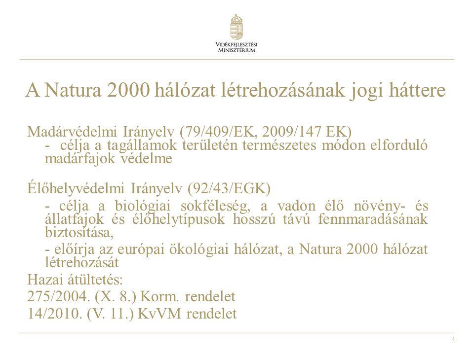 A Natura 2000 hálózat létrehozásának jogi háttere