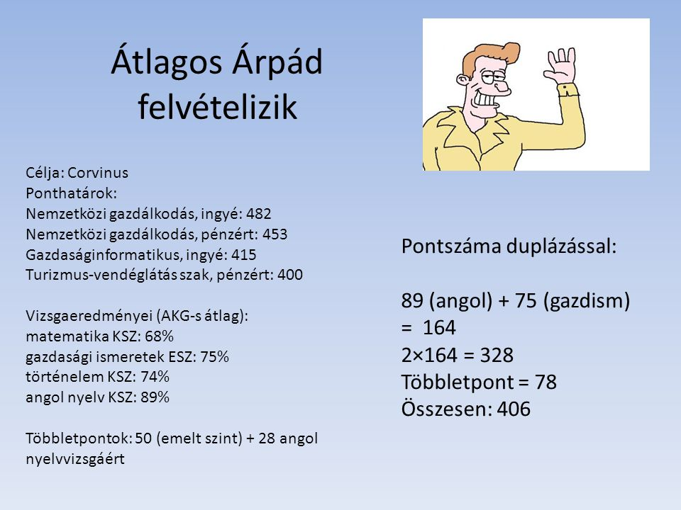 Átlagos Árpád felvételizik