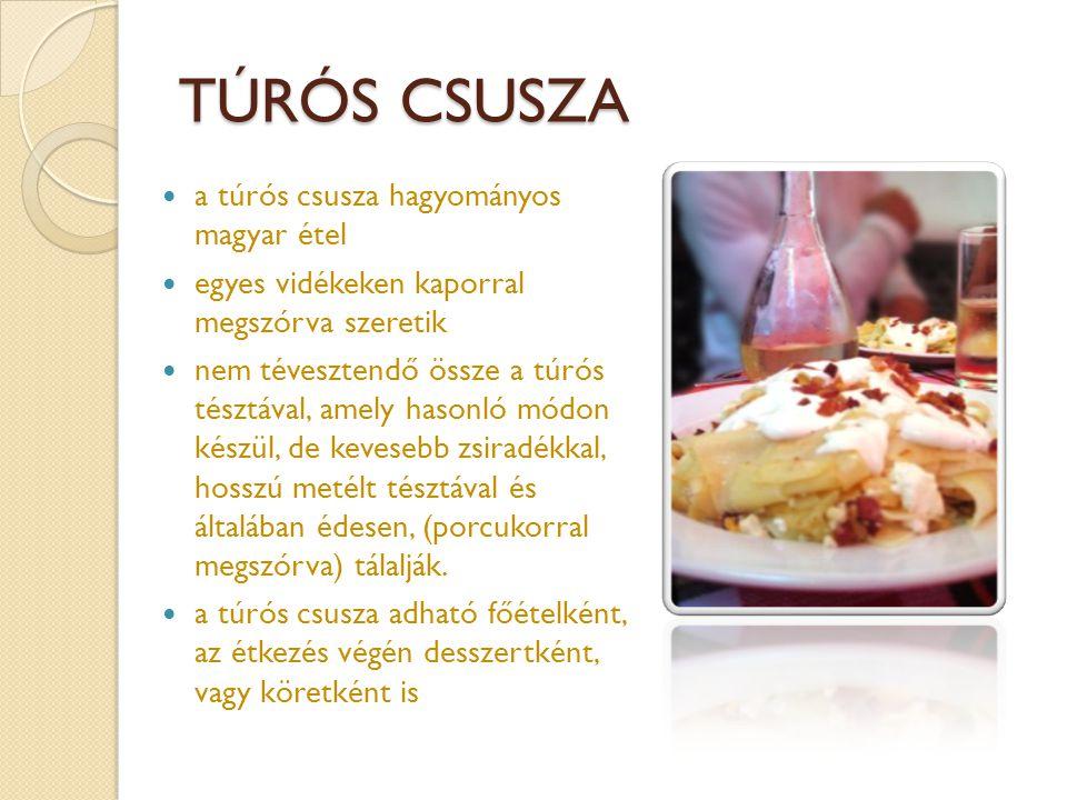 TÚRÓS CSUSZA a túrós csusza hagyományos magyar étel