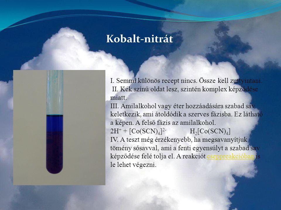 Kobalt-nitrát I. Semmi különös recept nincs. Össze kell zuttyintani.