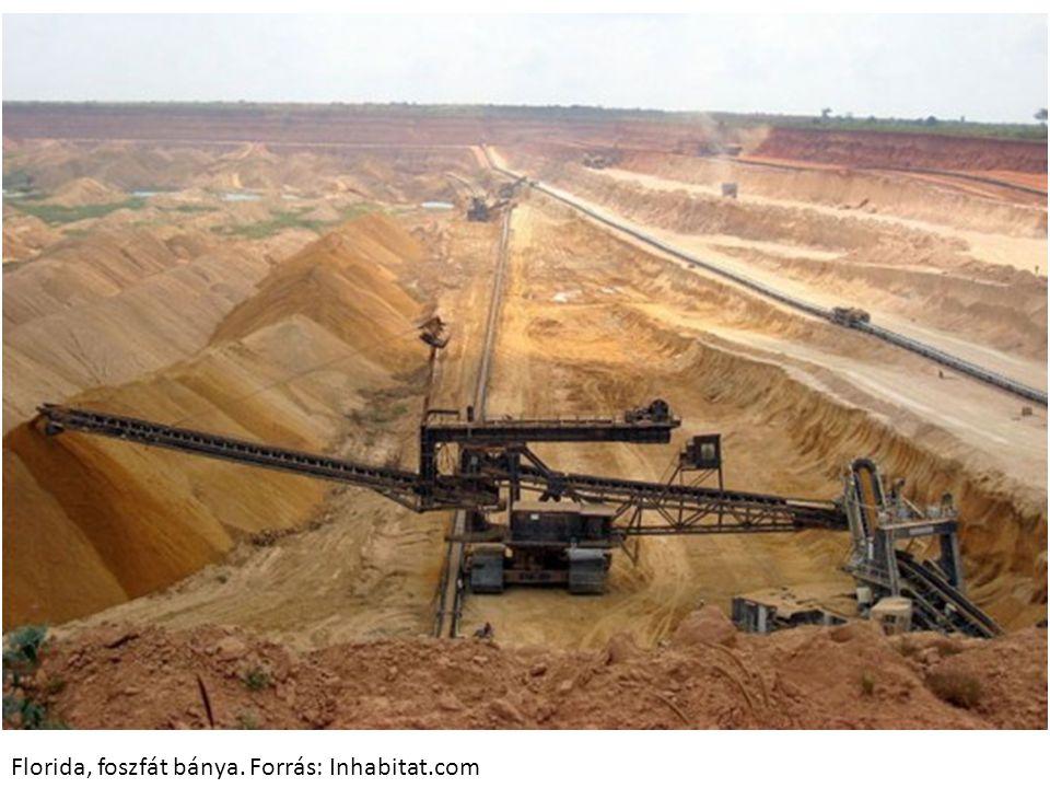 Florida, foszfát bánya. Forrás: Inhabitat.com