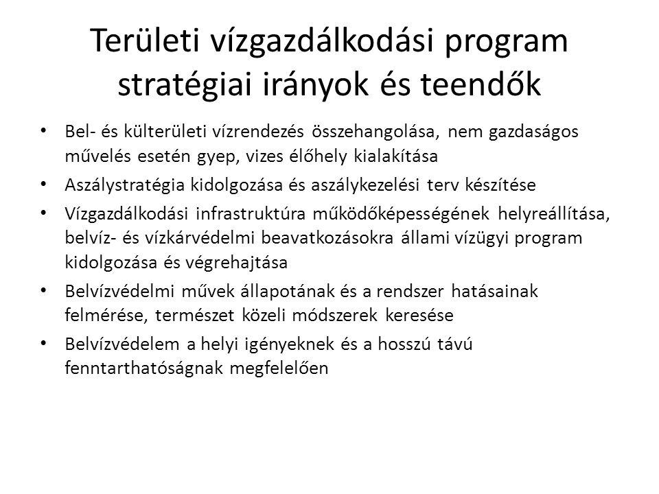Területi vízgazdálkodási program stratégiai irányok és teendők