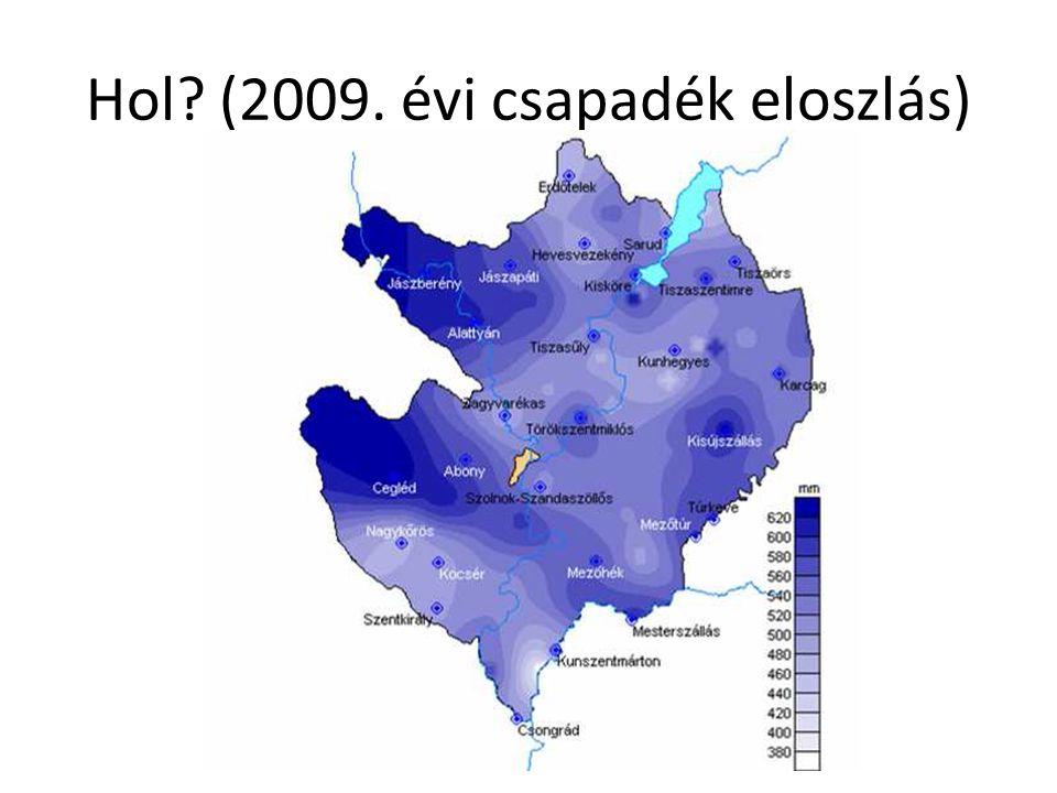 Hol (2009. évi csapadék eloszlás)
