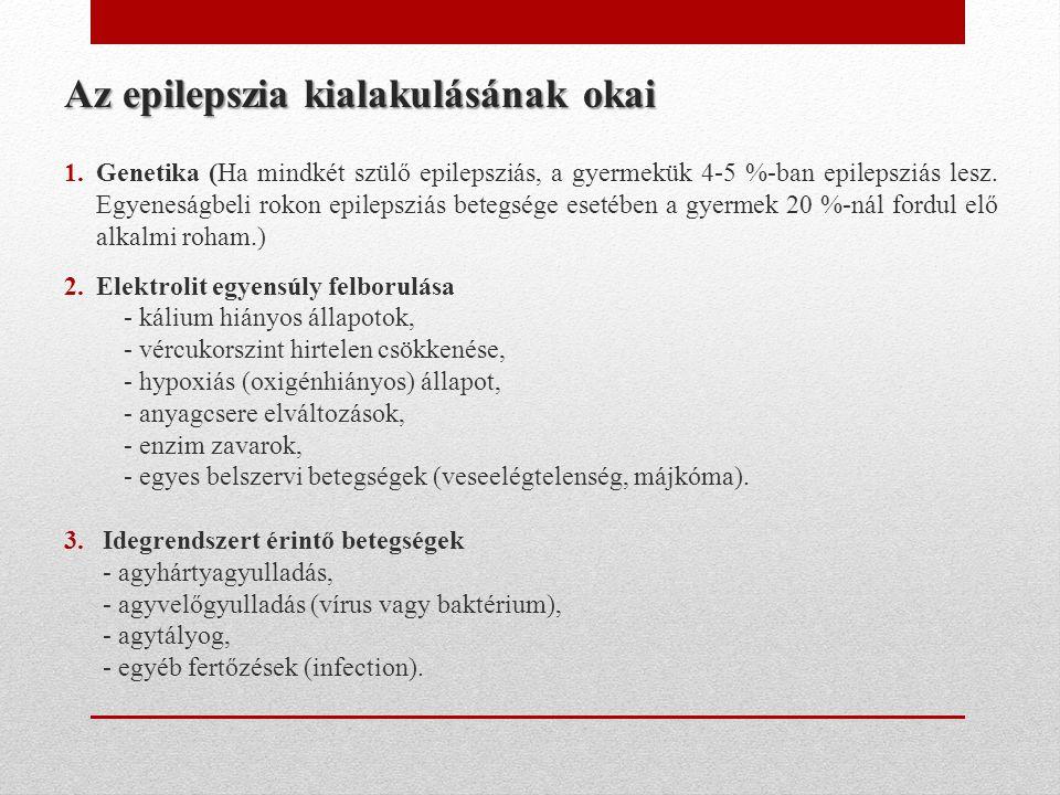 Az epilepszia kialakulásának okai