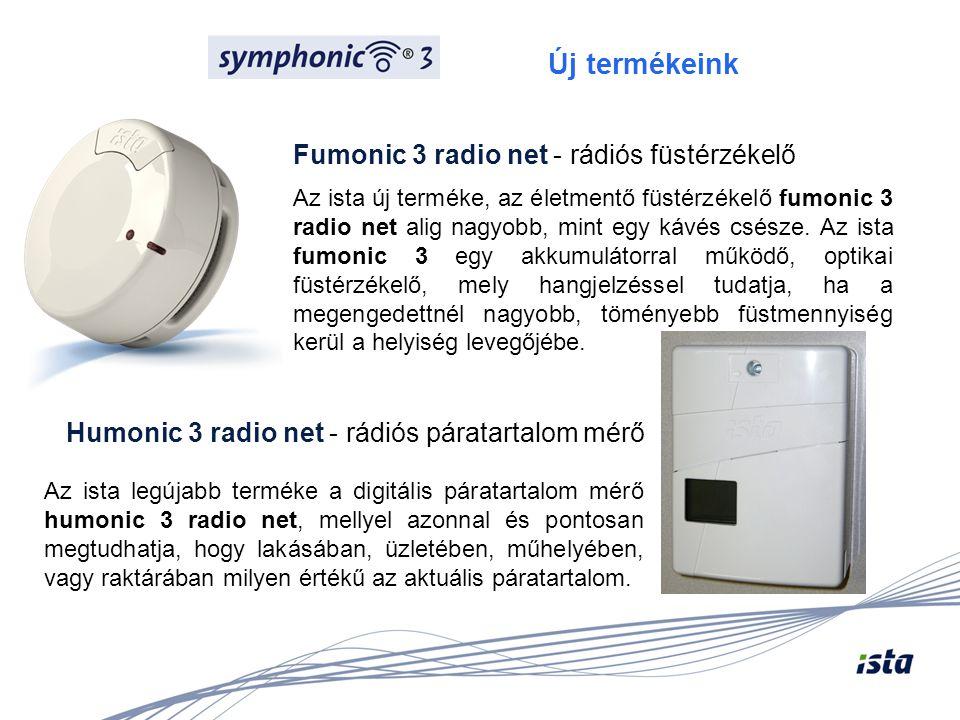 Új termékeink Fumonic 3 radio net - rádiós füstérzékelő