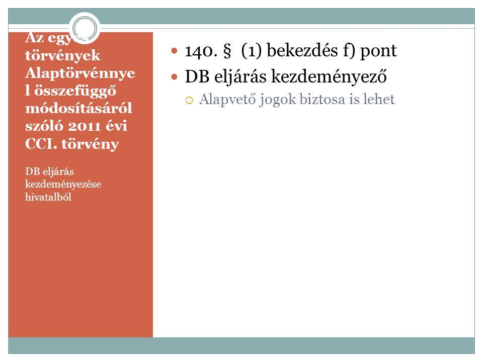 DB eljárás kezdeményező
