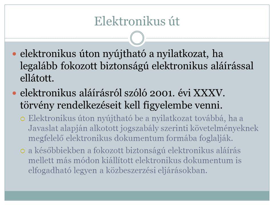Elektronikus út elektronikus úton nyújtható a nyilatkozat, ha legalább fokozott biztonságú elektronikus aláírással ellátott.