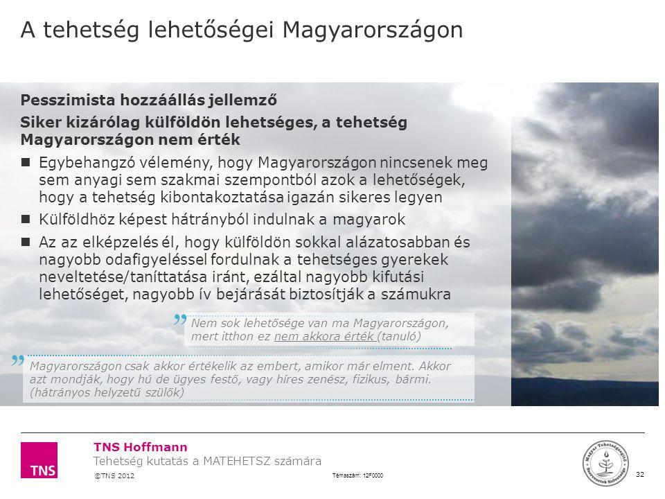 A tehetség lehetőségei Magyarországon