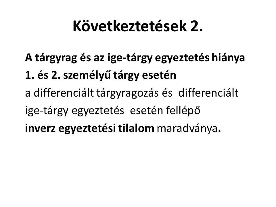 Következtetések 2.