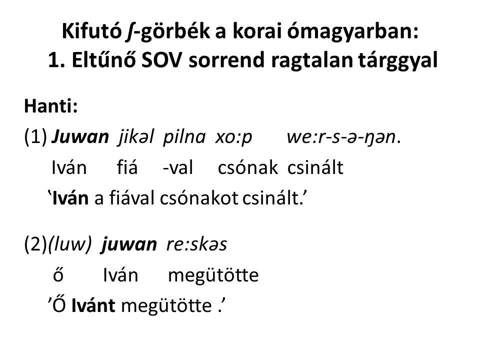 Kifutó ʃ-görbék a korai ómagyarban: 1
