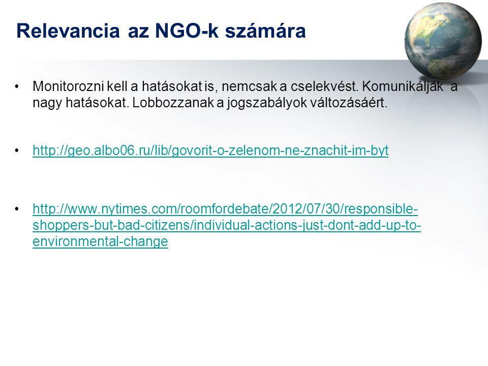 Relevancia az NGO-k számára