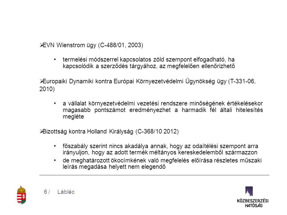 EVN Wienstrom ügy (C-488/01, 2003)