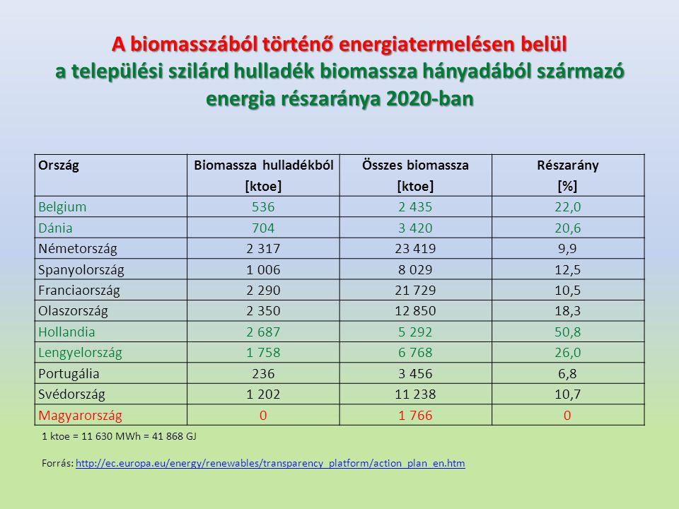Biomassza hulladékból
