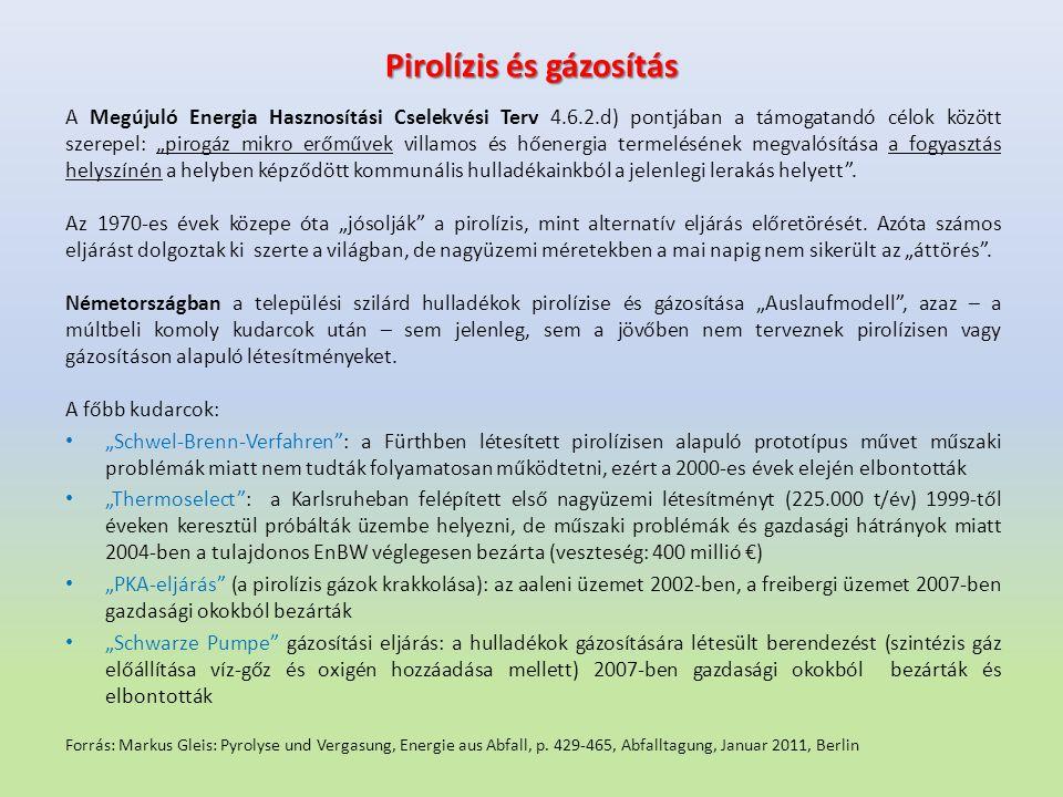 Pirolízis és gázosítás