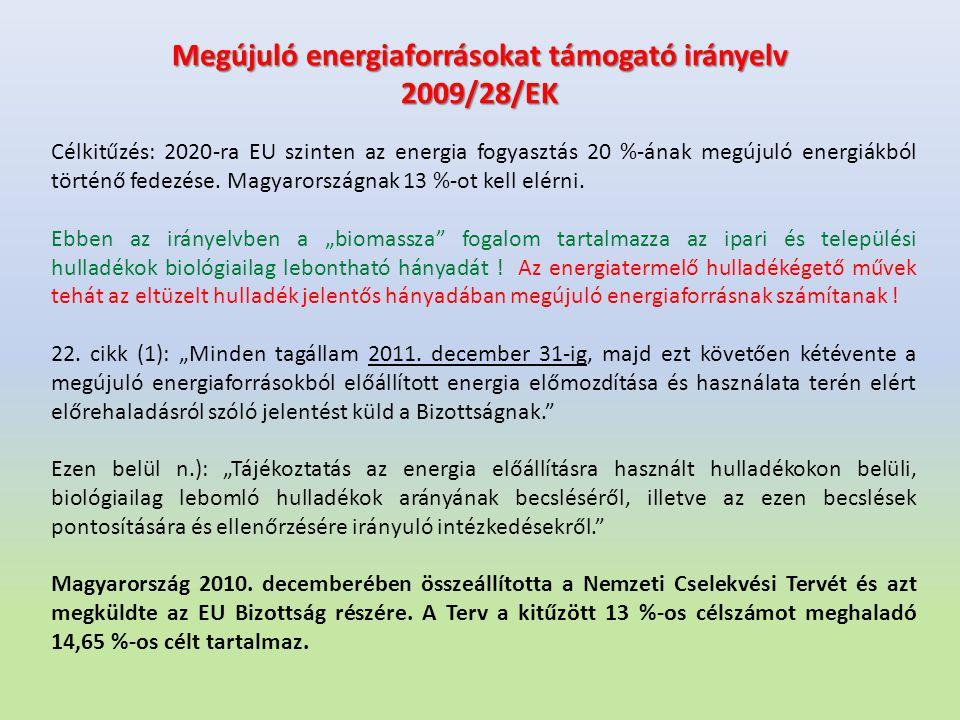 Megújuló energiaforrásokat támogató irányelv 2009/28/EK