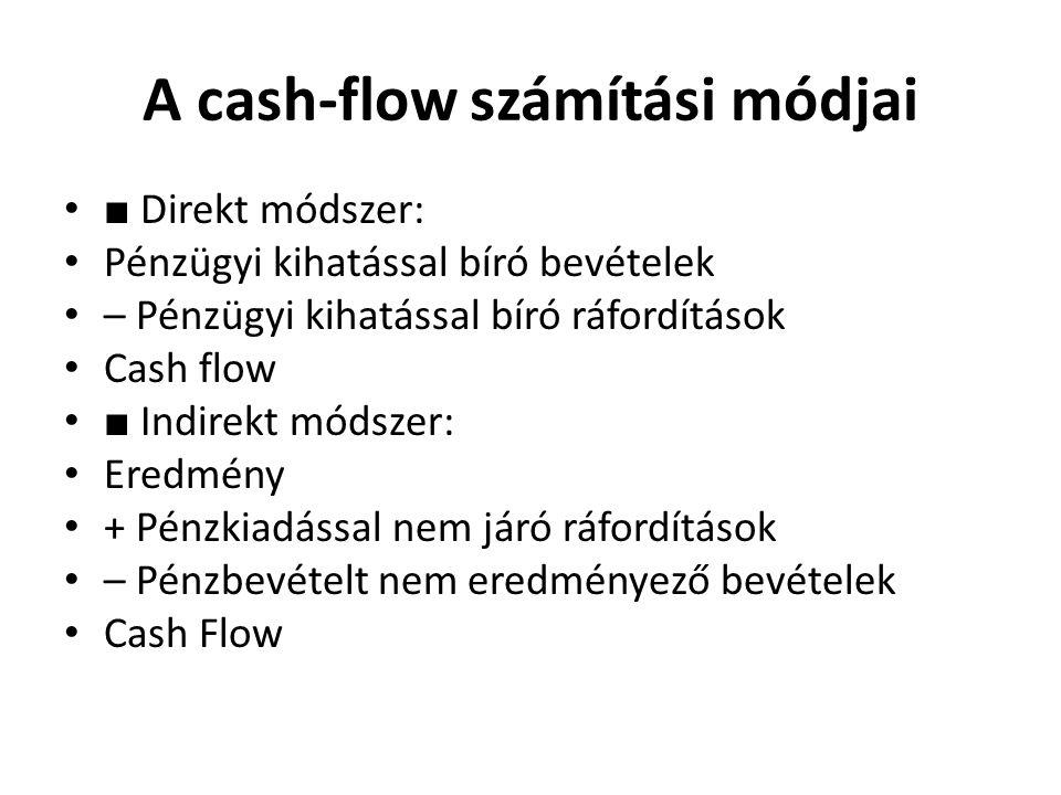 A cash-flow számítási módjai