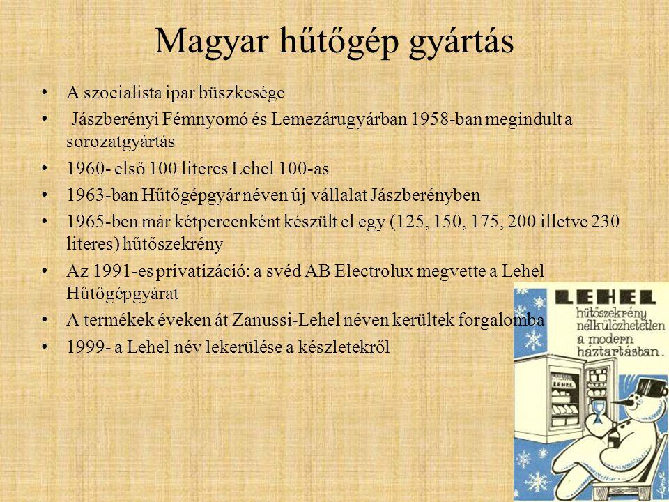Magyar hűtőgép gyártás