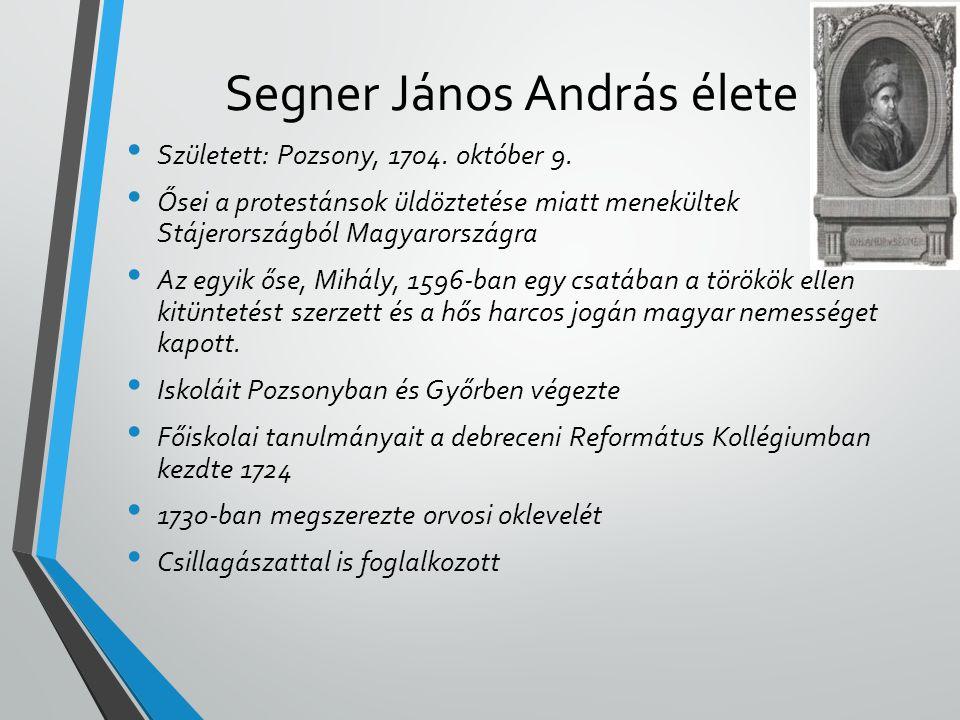 Segner János András élete