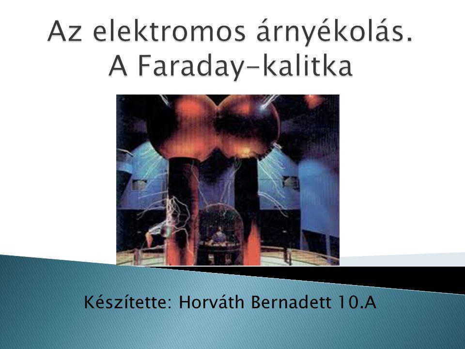 Az elektromos árnyékolás. A Faraday-kalitka