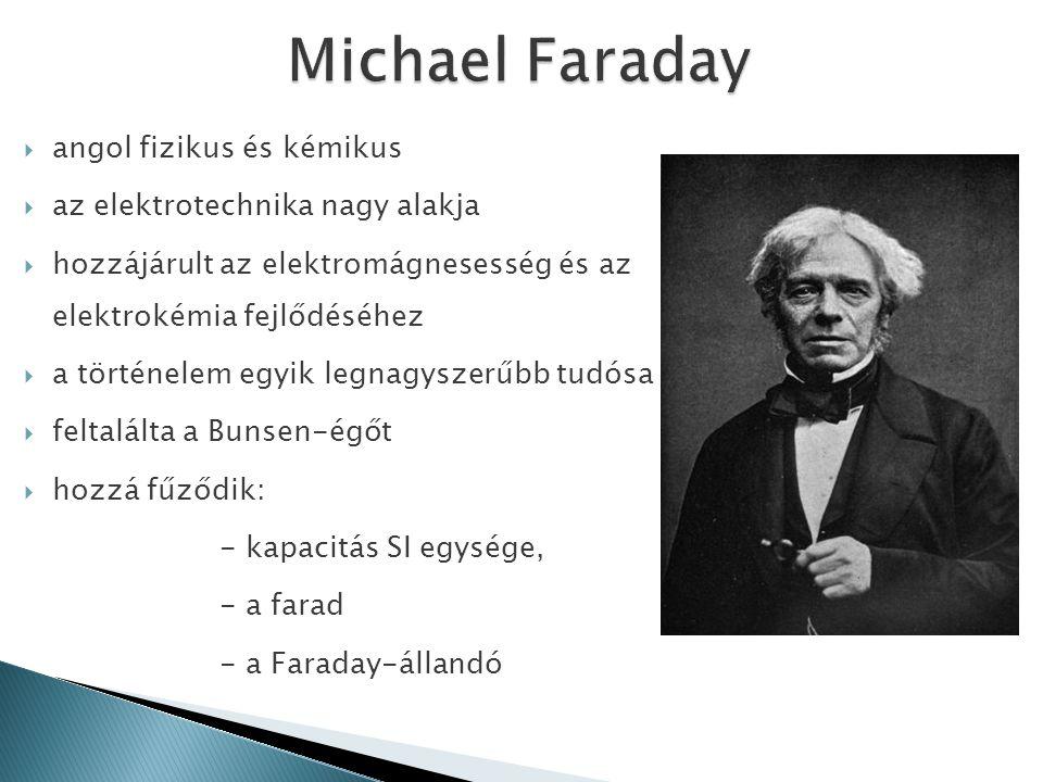 Michael Faraday angol fizikus és kémikus