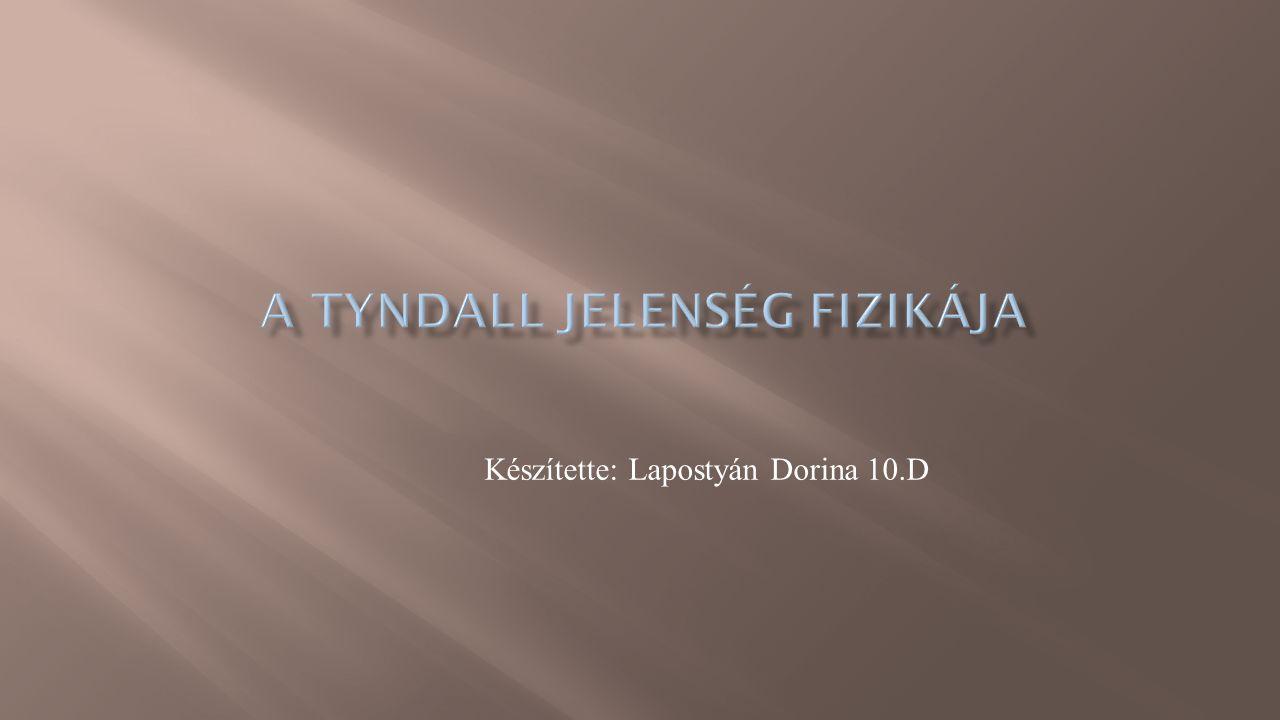 A Tyndall jelenség fizikája