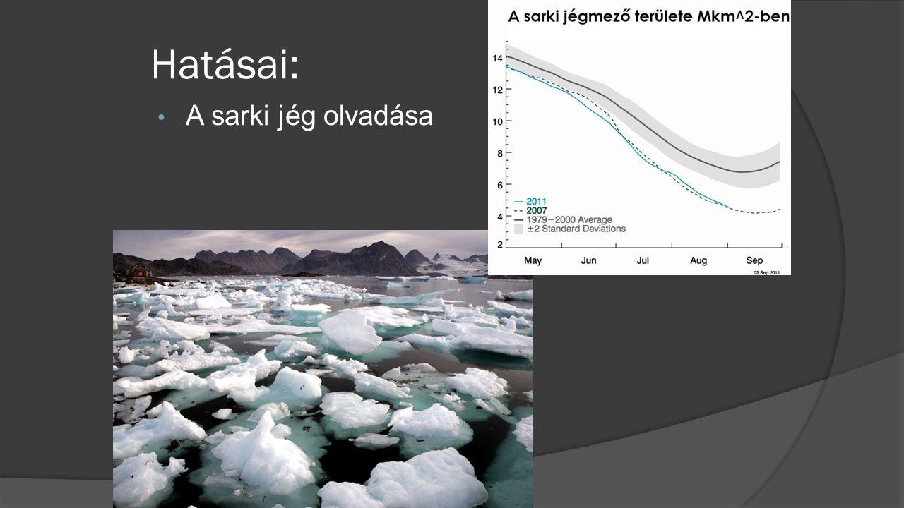 Hatásai: A sarki jég olvadása