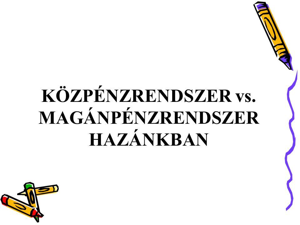 KÖZPÉNZRENDSZER vs. MAGÁNPÉNZRENDSZER HAZÁNKBAN