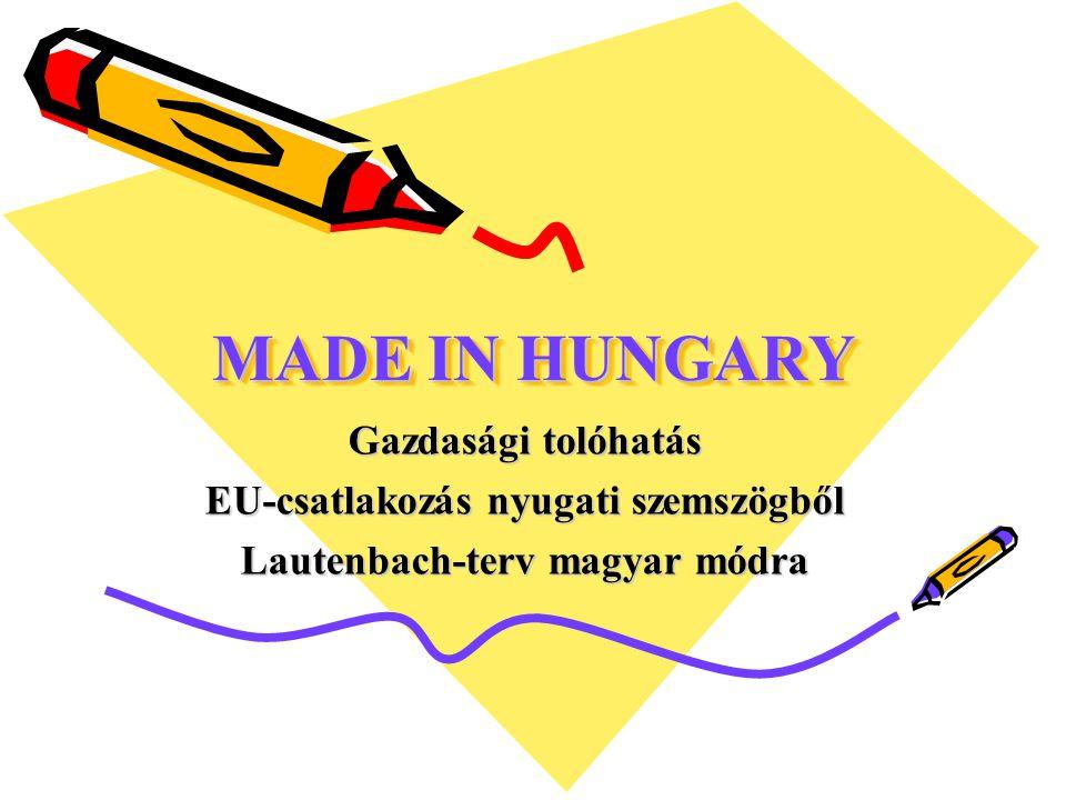 EU-csatlakozás nyugati szemszögből Lautenbach-terv magyar módra