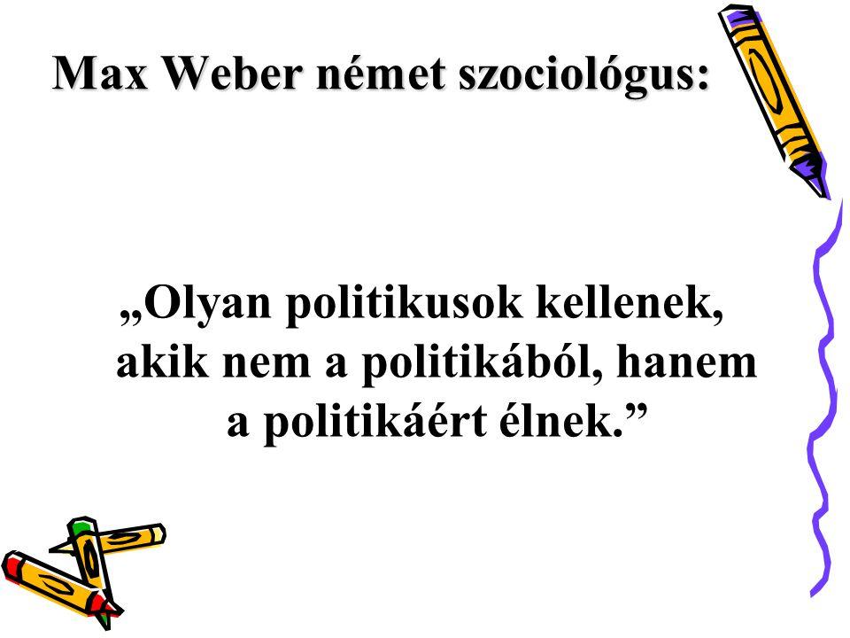 Max Weber német szociológus: