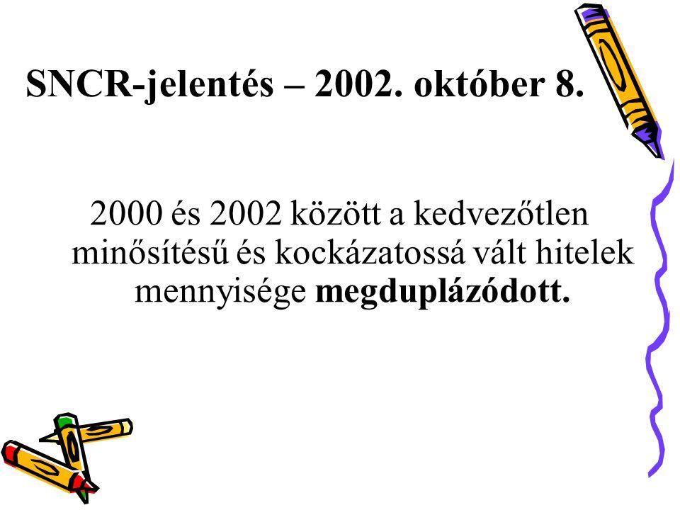 SNCR-jelentés – 2002. október 8.