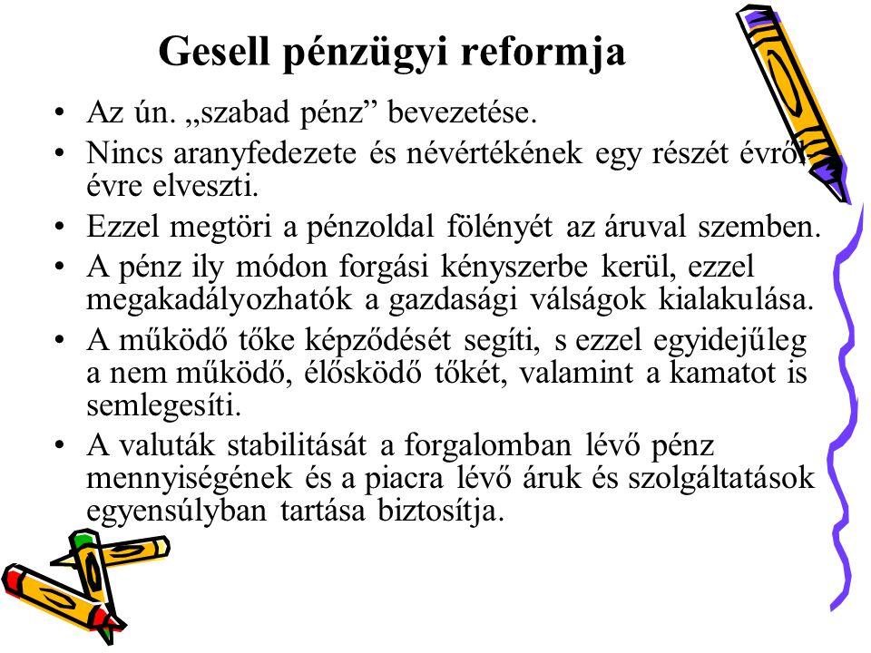 Gesell pénzügyi reformja