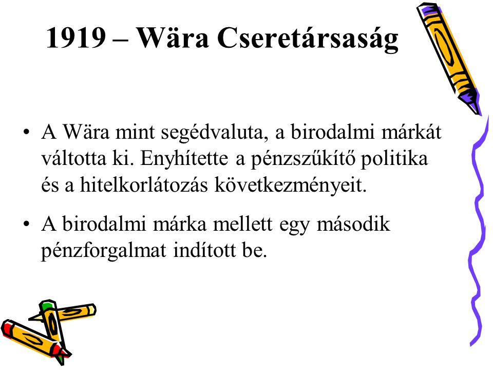 1919 – Wära Cseretársaság