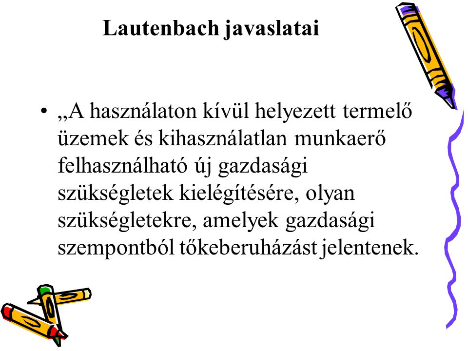 Lautenbach javaslatai