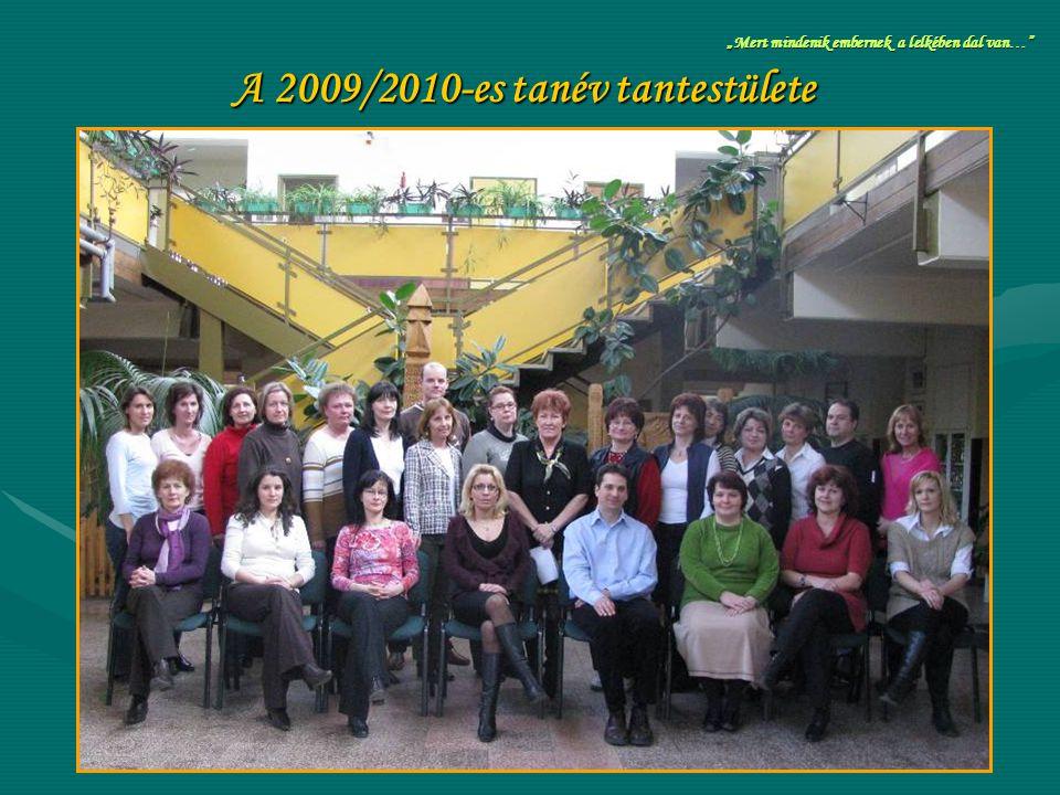 A 2009/2010-es tanév tantestülete
