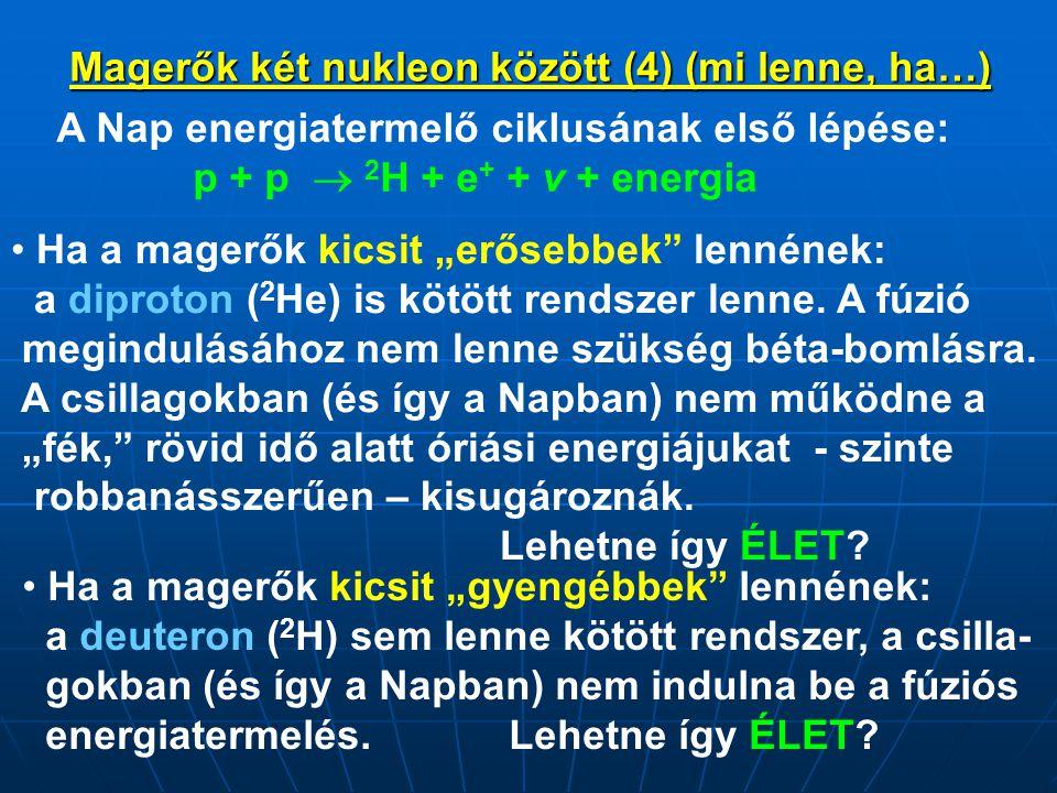 Magerők két nukleon között (4) (mi lenne, ha…)